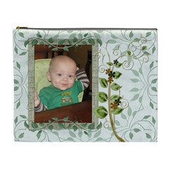 Green Nature Xl Cosmetic Bag By Lil    Cosmetic Bag (xl)   Hqagrd2hwrui   Www Artscow Com Front