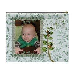 Green Nature Xl Cosmetic Bag By Lil    Cosmetic Bag (xl)   Hqagrd2hwrui   Www Artscow Com Back