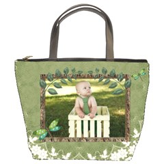 Green Nature Bucket Bag By Lil    Bucket Bag   Pmlvia94s7zj   Www Artscow Com Front