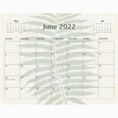 Green Nature 12 Month Wall Calendar By Lil    Wall Calendar 11  X 8 5  (12 Months)   036wny4xfd6k   Www Artscow Com Jun 2015