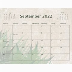 Green Nature 12 Month Wall Calendar By Lil    Wall Calendar 11  X 8 5  (12 Months)   036wny4xfd6k   Www Artscow Com Sep 2015
