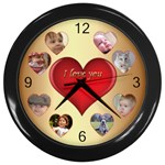 I Love You Wall Clock - Wall Clock (Black)