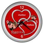 Forever Silver Wall Clock - Wall Clock (Silver)