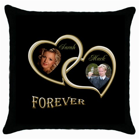 Wedding Throw Pillow By Deborah   Throw Pillow Case (black)   Rlse6ufc1n5g   Www Artscow Com Front