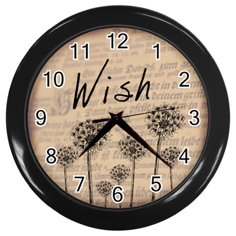 Wish Clock By Charity   Wall Clock (black)   6l45xxc7fvej   Www Artscow Com Front
