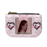 Pink love jewel heart mini purse - Mini Coin Purse