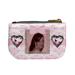 Pink Love Jewel Heart Mini Purse By Claire Mcallen   Mini Coin Purse   00zetv752hfb   Www Artscow Com Back