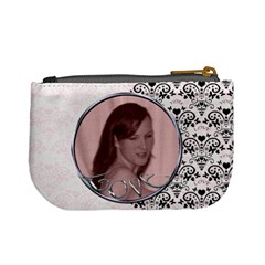 Pink With Black Lace Love Mini Purse Valentines By Claire Mcallen   Mini Coin Purse   Ttcjacm513wu   Www Artscow Com Back