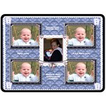 Flutter bear, dark blue baby boys blanket - Fleece Blanket (Large)