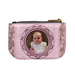 Vintage Rose Lilac Mini Purse By Claire Mcallen   Mini Coin Purse   Pomdzuug0609   Www Artscow Com Back