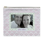 Pink to lilac heart classic toile love cosmetic bag xl - Cosmetic Bag (XL)