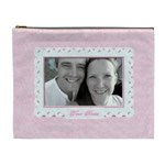 Pink jewelled classic toile love cosmetic bag xl - Cosmetic Bag (XL)