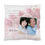 Love Pink Rose Cushion Case - Cushion Case (One Side)