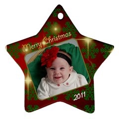 Lillian Mae By Lisa Lafreniere   Star Ornament (two Sides)   6ycobhczi5bn   Www Artscow Com Front