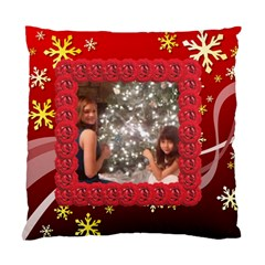 Red Snowflake Cushion Case By Kim Blair   Standard Cushion Case (two Sides)   Oz9oobk4gwih   Www Artscow Com Front