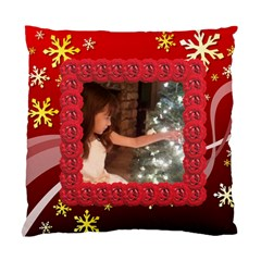 Red Snowflake Cushion Case By Kim Blair   Standard Cushion Case (two Sides)   Oz9oobk4gwih   Www Artscow Com Back