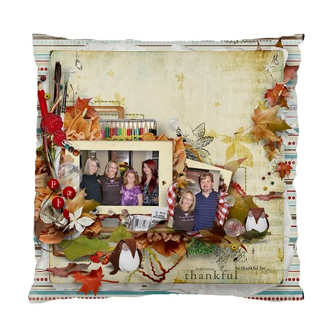 Christmas Pillow My Family By Kellie Simpson   Standard Cushion Case (one Side)   Wl1b116tyanh   Www Artscow Com Front