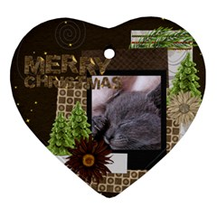 Christmas By Joely   Heart Ornament (two Sides)   Crm4lhtj6sbq   Www Artscow Com Front