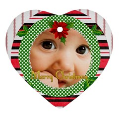 Christmas By Joely   Heart Ornament (two Sides)   6jxx6t4t2kff   Www Artscow Com Front
