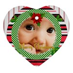 christmas - Heart Ornament (Two Sides)