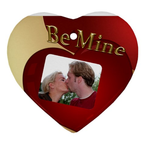 Be Mine Heart Ornament By Deborah   Ornament (heart)   Vn7dfl5xpot7   Www Artscow Com Front