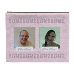 Pink Valentines classic toile love cosmetic bag xl - Cosmetic Bag (XL)