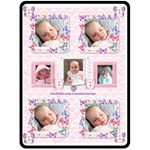 Flutter bear pink girls love blanket blankie - Fleece Blanket (Large)