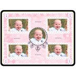 Flutter bear rose pink blanket - Fleece Blanket (Large)