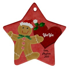 Yaya By Yvette Mouer   Star Ornament (two Sides)   Vbj0o0tu48bg   Www Artscow Com Back