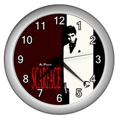Scarface Wall Clock (Silver) by digitalmonkey