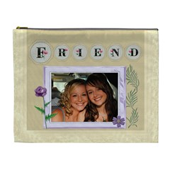 Friends Xl Cosmetic Bag By Lil    Cosmetic Bag (xl)   Mi6hscplau5f   Www Artscow Com Front