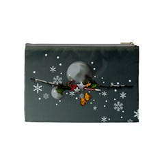 Merry Christmas Cosmetic Bag (m) By Elena Petrova   Cosmetic Bag (medium)   Be48q0culsf8   Www Artscow Com Back