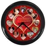 First 12 Months Clock - Wall Clock (Black)