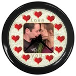 Love You Wall Clock - Wall Clock (Black)