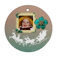 Joyous Ornament2sides By Kdesigns   Round Ornament (two Sides)   Rbe7vhbgprnq   Www Artscow Com Front