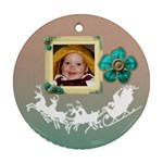 joyous_ornament2sides - Round Ornament (Two Sides)