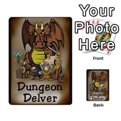 Dungeon Delver By Drew Chamberlain   Multi Purpose Cards (rectangle)   Hons7l2gm2n8   Www Artscow Com Back 40