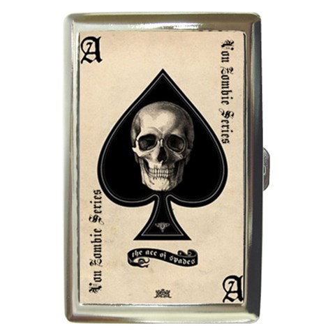 Family Ace Of Spades : Cigarette Case By Von Zombie ™©®   Cigarette Money Case   Wam74ozj73ot   Www Artscow Com Front