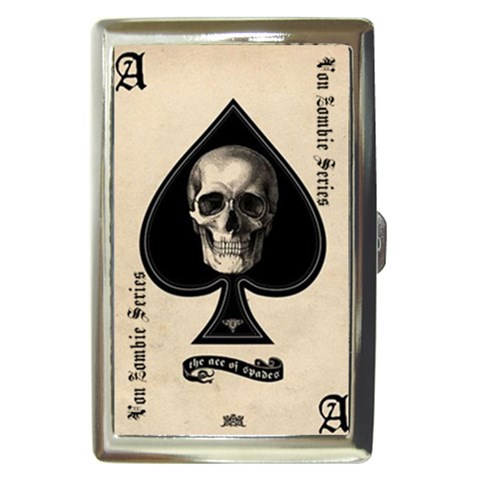 Family Ace of Spades : Cigarette Case by Von Zombie ™©® Front