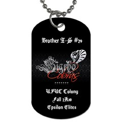 Sig Rho Dog Tag By Vrajeshparikh3   Dog Tag (two Sides)   5vy0x7ntjdqs   Www Artscow Com Front