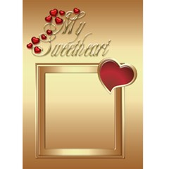 Valentine SweetHeart card (5x7) by Deborah Front Cover