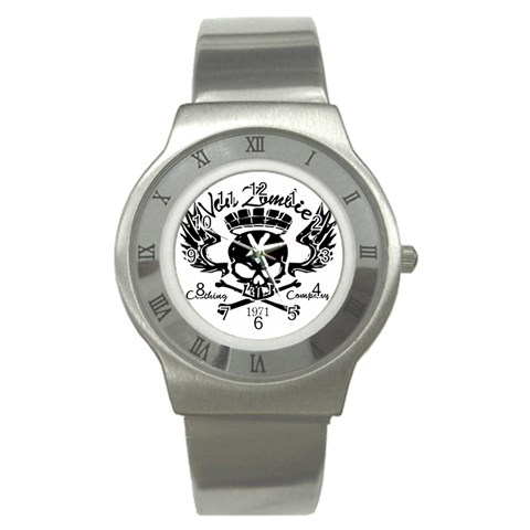 Zombie King Mark : Steel Watch By Von Zombie ™©®   Stainless Steel Watch   58xmvw27xmh7   Www Artscow Com Front