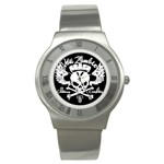 Zombie King Mark Black : Steel Watch - Stainless Steel Watch