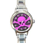 Dead Label Mark Pink : Rd Italian Watch - Round Italian Charm Watch