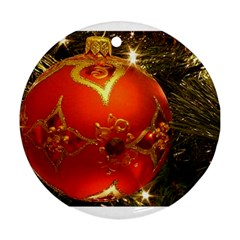 Xmas Ornament Round Ornament (Two Sides) by creationsbyvic