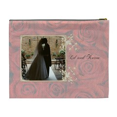 Roses In Bloom Wedding Cosmetic Bag By Purplekiss   Cosmetic Bag (xl)   Lmmuife8jb85   Www Artscow Com Back