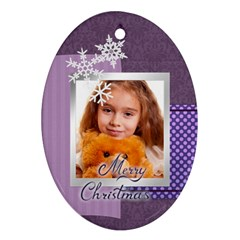 Christmas By Joely   Oval Ornament (two Sides)   Fl178s21ut4t   Www Artscow Com Front