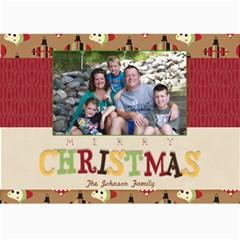 Merry Christmas 5x7 By Lana Laflen   5  X 7  Photo Cards   32f24i4spbne   Www Artscow Com 7 x5 Photo Card - 8