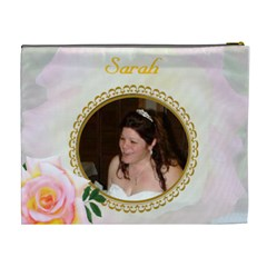 Pastel Rose Xl Cosmetic Bag By Kim Blair   Cosmetic Bag (xl)   Hrtzu9bk04uk   Www Artscow Com Back