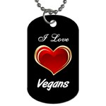 DogTagGC2ILoveVegans - Dog Tag (Two Sides)